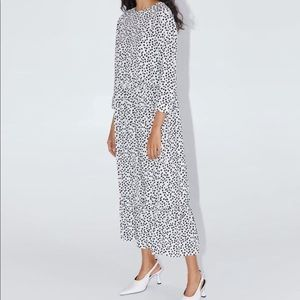 Zara White Print Dress